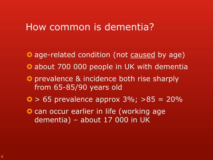 How common is dementia?