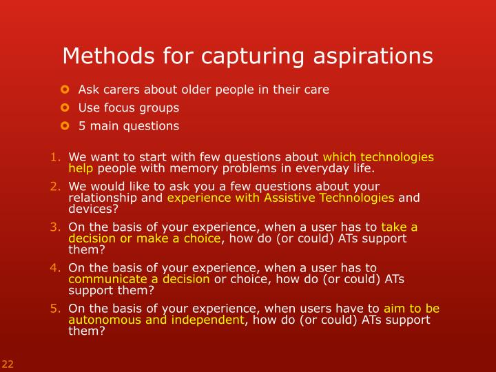 Methods for capturing
