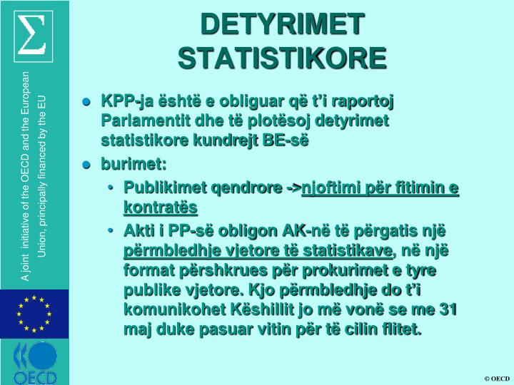 DETYRIMET  STATISTIKORE