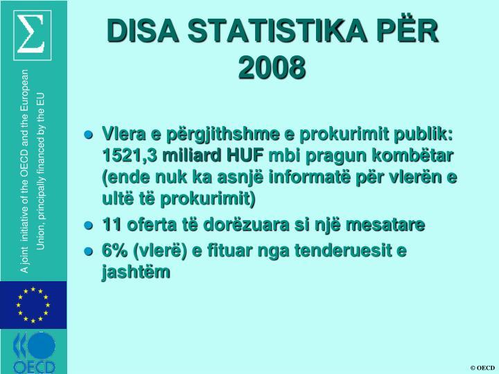 DISA STATISTIKA PËR 2008