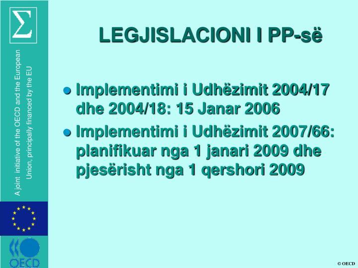 LEGJISLACIONI I PP-së