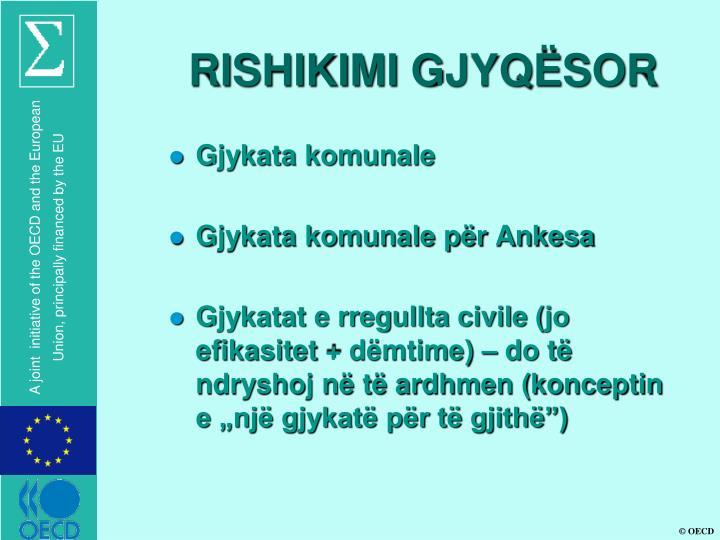 RISHIKIMI GJYQËSOR