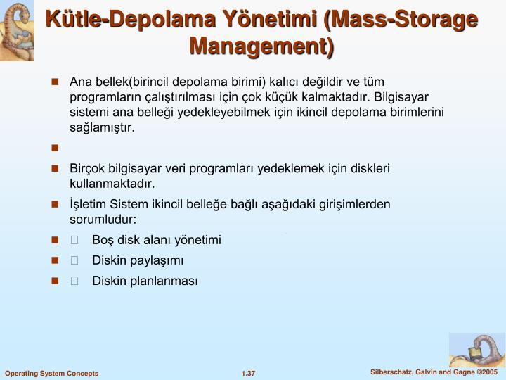 Kütle-Depolama Yönetimi (