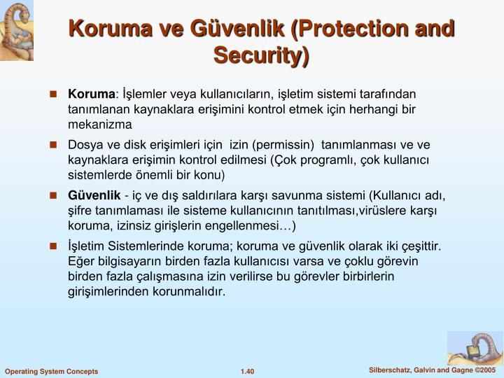 Koruma ve Güvenlik (