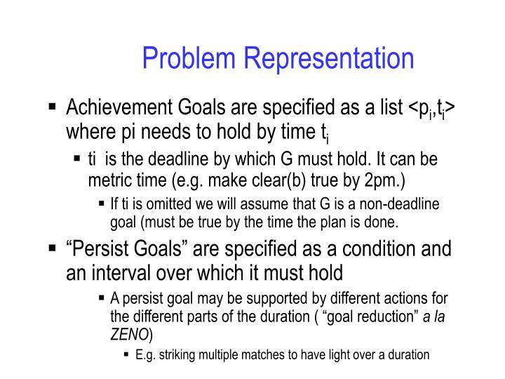 Problem Representation
