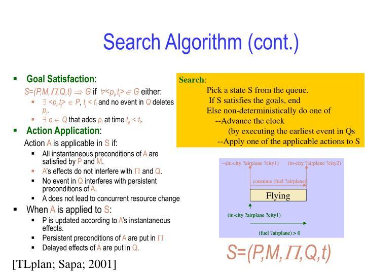 Search Algorithm (cont.)