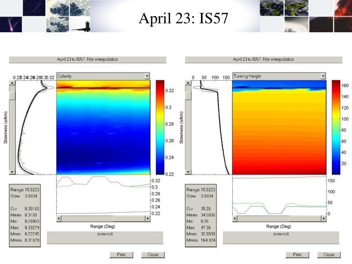 April 23: IS57