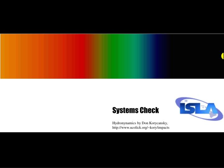 Systems check