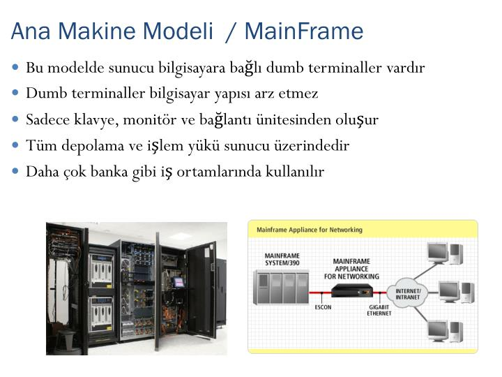 Ana Makine Modeli  / MainFrame