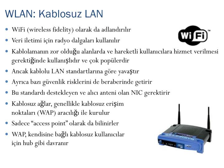 WLAN: Kablosuz LAN