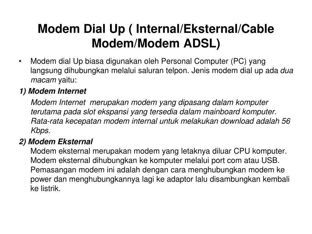 PPT - Perangkat Keras dan Fungsinya untuk Akses Internet ...