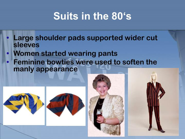 Suits in the 80 s