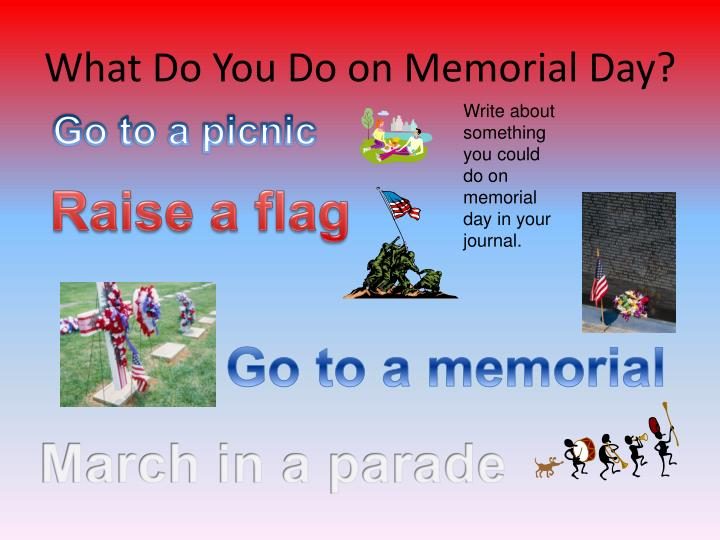 What Do You Do on Memorial Day?