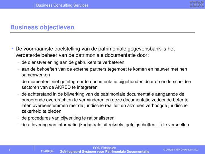 Business objectieven