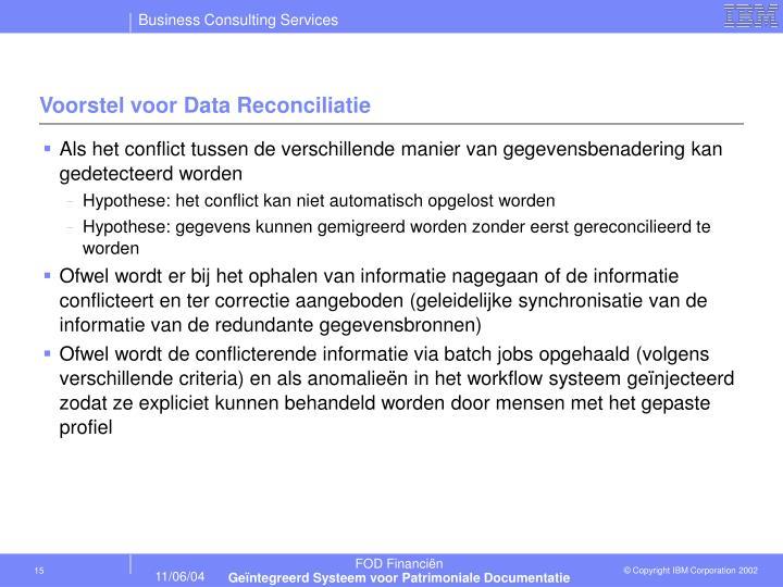 Voorstel voor Data Reconciliatie