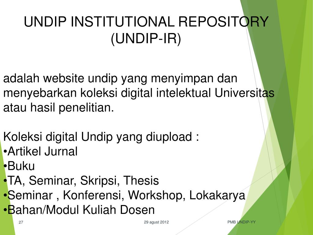 Ppt Pengenalan Perpustakaan Fakultas Hukum Undip Semarang 2