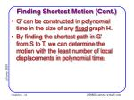 finding shortest motion cont