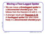 moving a four legged spider