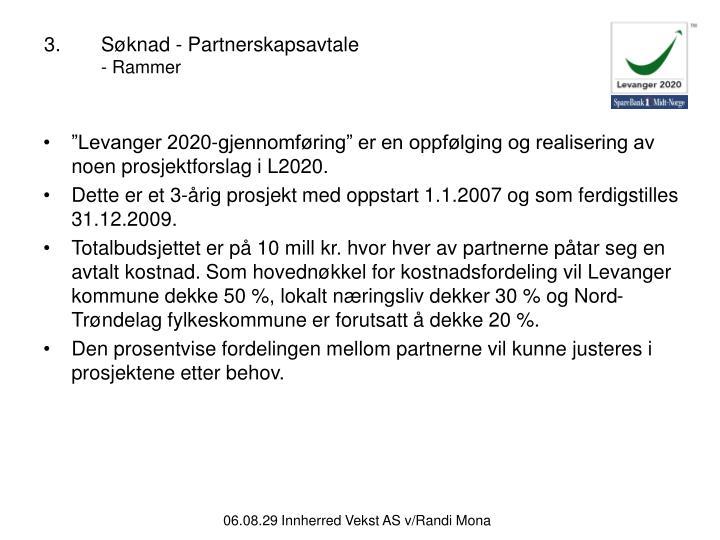 3.Søknad - Partnerskapsavtale