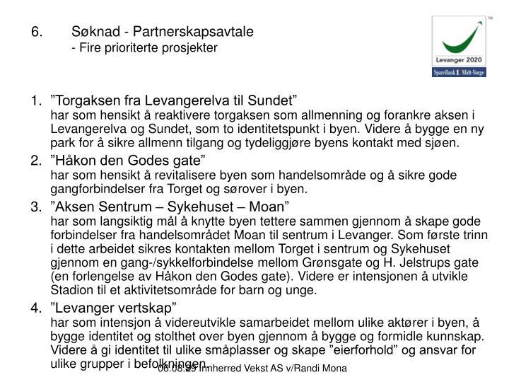 6.Søknad - Partnerskapsavtale