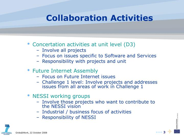 Collaboration activities