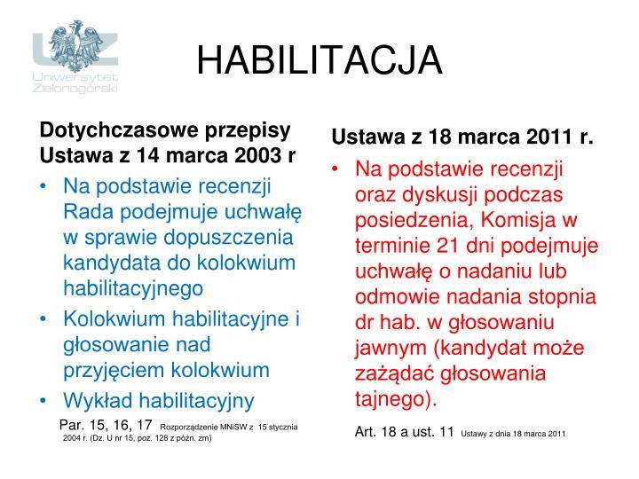 HABILITACJA