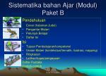 sistematika bahan ajar modul paket b