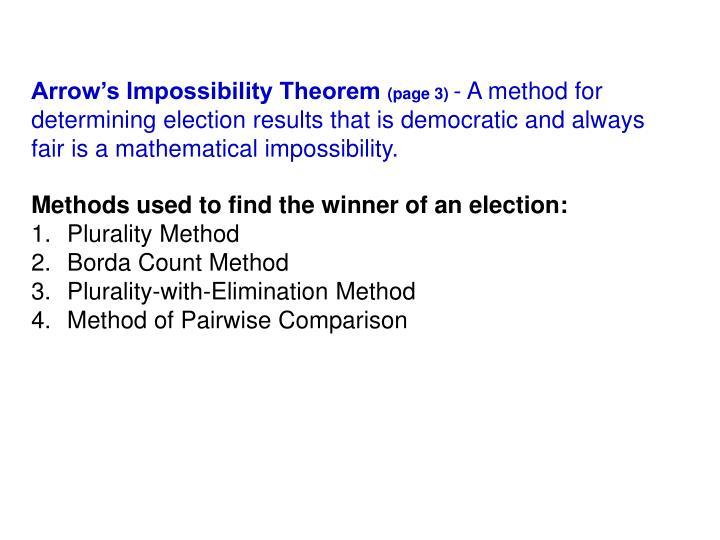 Arrow's Impossibility Theorem