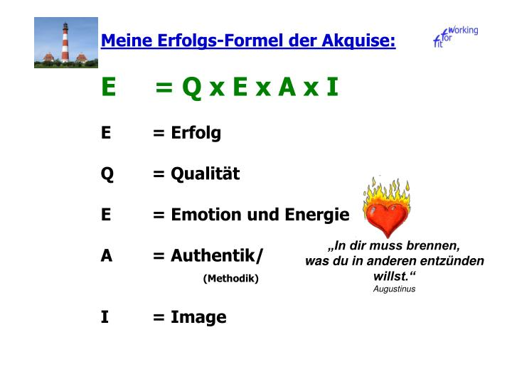 Meine Erfolgs-Formel der Akquise: