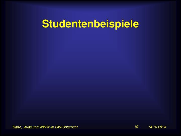 Studentenbeispiele