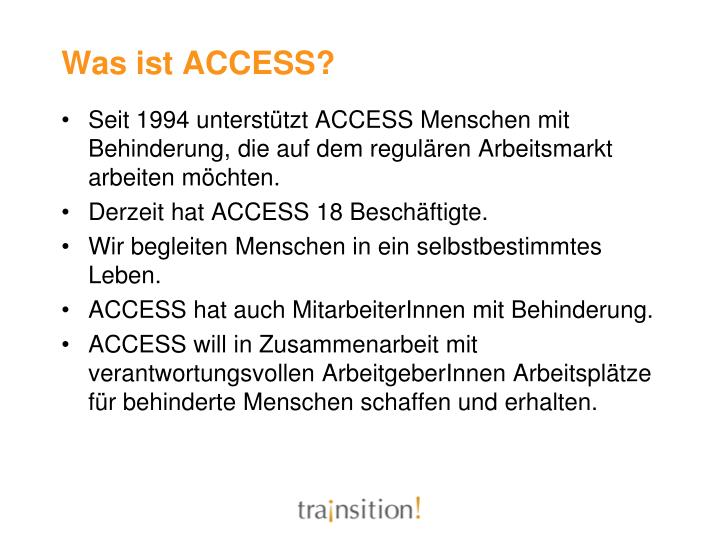 Was ist ACCESS?