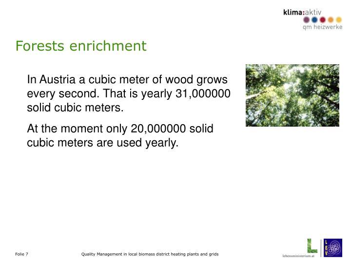 Forests enrichment