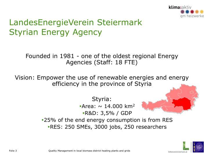 Landesenergieverein steiermark styrian energy agency
