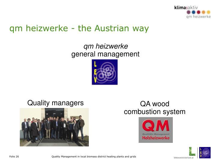 qm heizwerke - the Austrian way