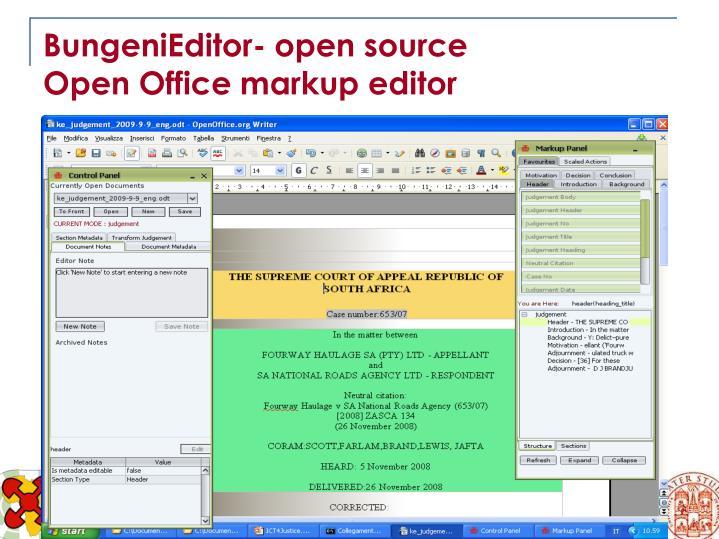 BungeniEditor- open source