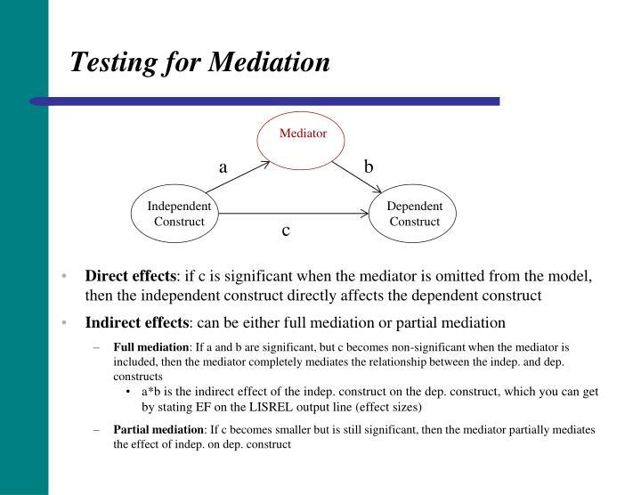 Testing for Mediation