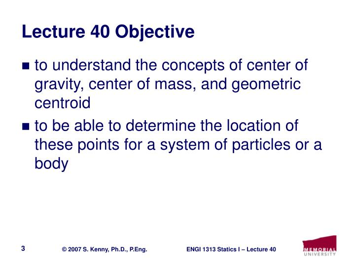 Lecture 40 objective