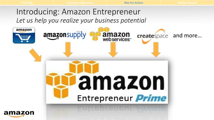 Introducing: Amazon Entrepreneur