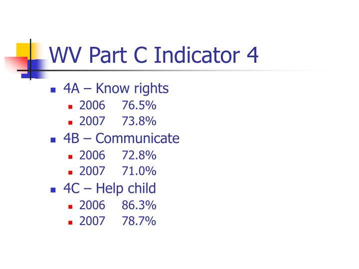 WV Part C Indicator 4
