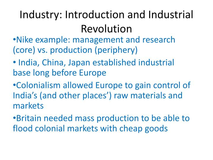 an introduction to the industrial revolution in europe Industrial revolution industrial revolution to the end of the early modern period, europe remained a preindustrial society its manufactured goods came from small workshops, and most of its machinery was powered by animals, wind, falling water, or human labor.