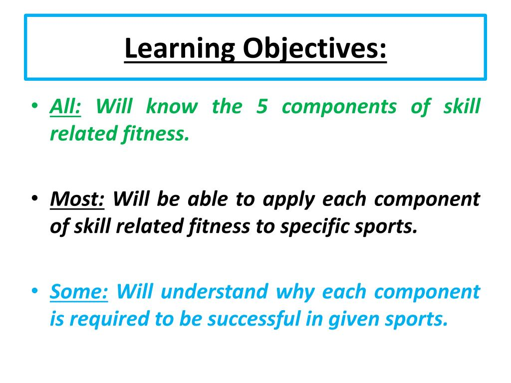 PPT - Unit 1: Fitness for Sport and Exercise PowerPoint ...