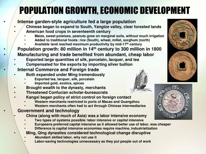 POPULATION GROWTH, ECONOMIC DEVELOPMENT