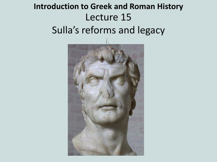 introduction to greek and roman history n.