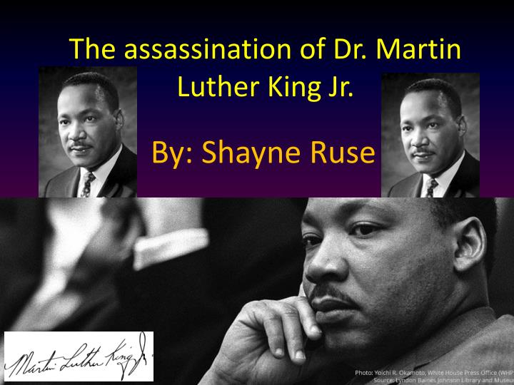 the assassination of martin luther king essay A student wrote his congressman about martin luther king's assassination fifty years later, i found the writer.