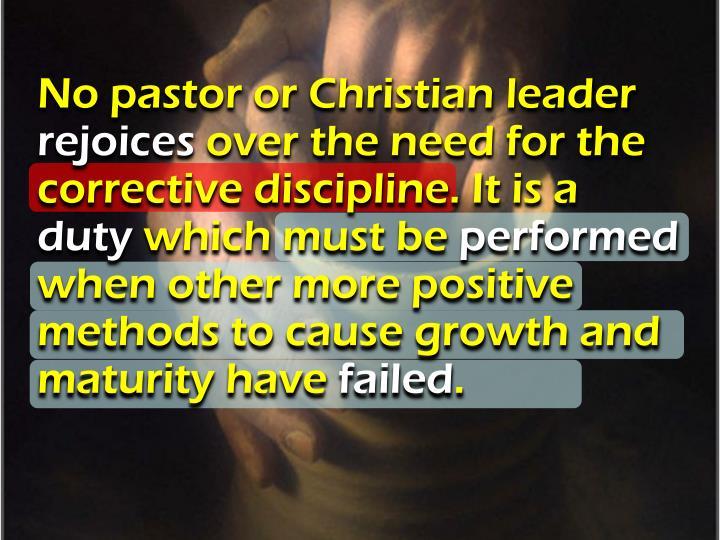 No pastor or Christian leader