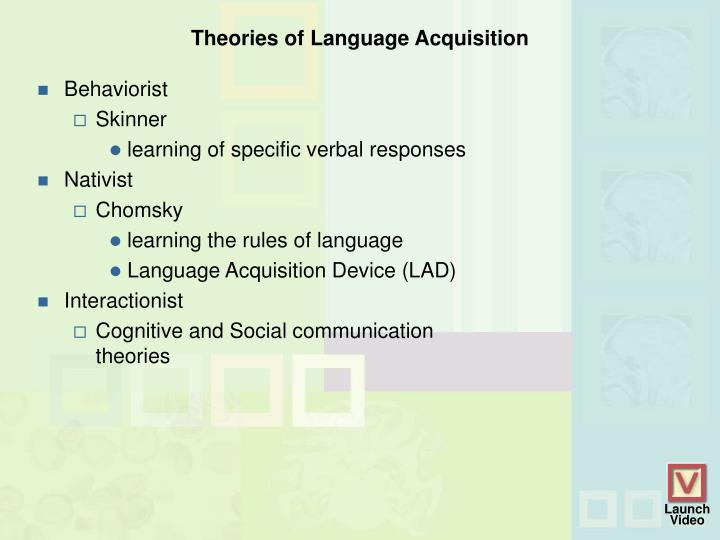 Theories of Language Acquisition