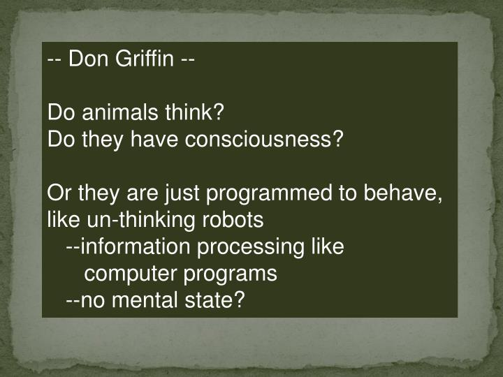 -- Don Griffin --