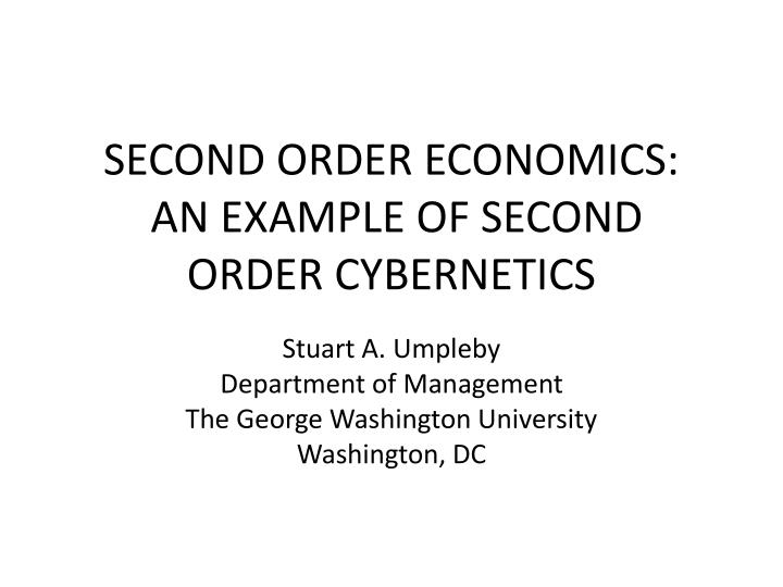 first and second order cybernetics