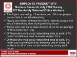 employee productivity nucleus research july 2009 survey 237 randomly selected office workers
