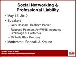 social networking professional liability